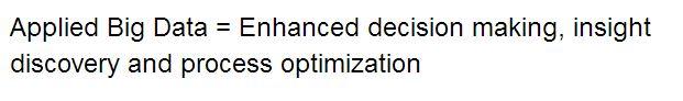 Applied Big Data Definition