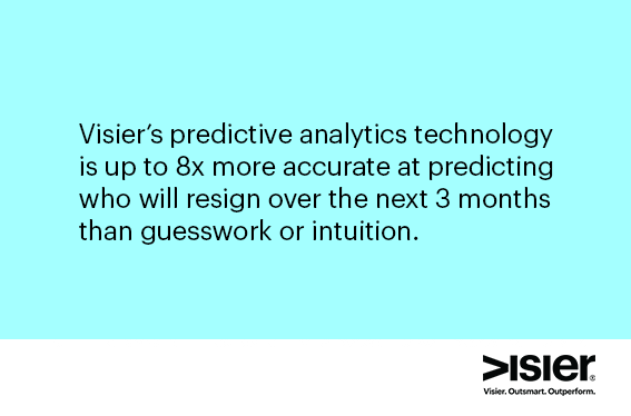 Visier Predictive Analytics 8x more accurate
