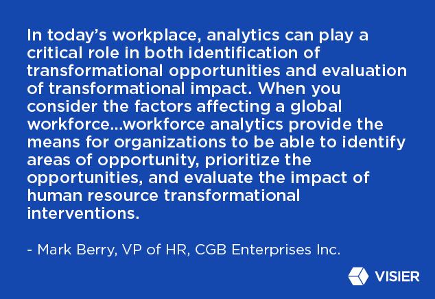 Quote by Mark Berry on the importance of workforce analytics