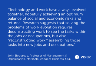 "Feature quote from John Boudreau for the article Will Automation ""Terminate"" Occupations? Deconstructing Work Reveals the Answer"