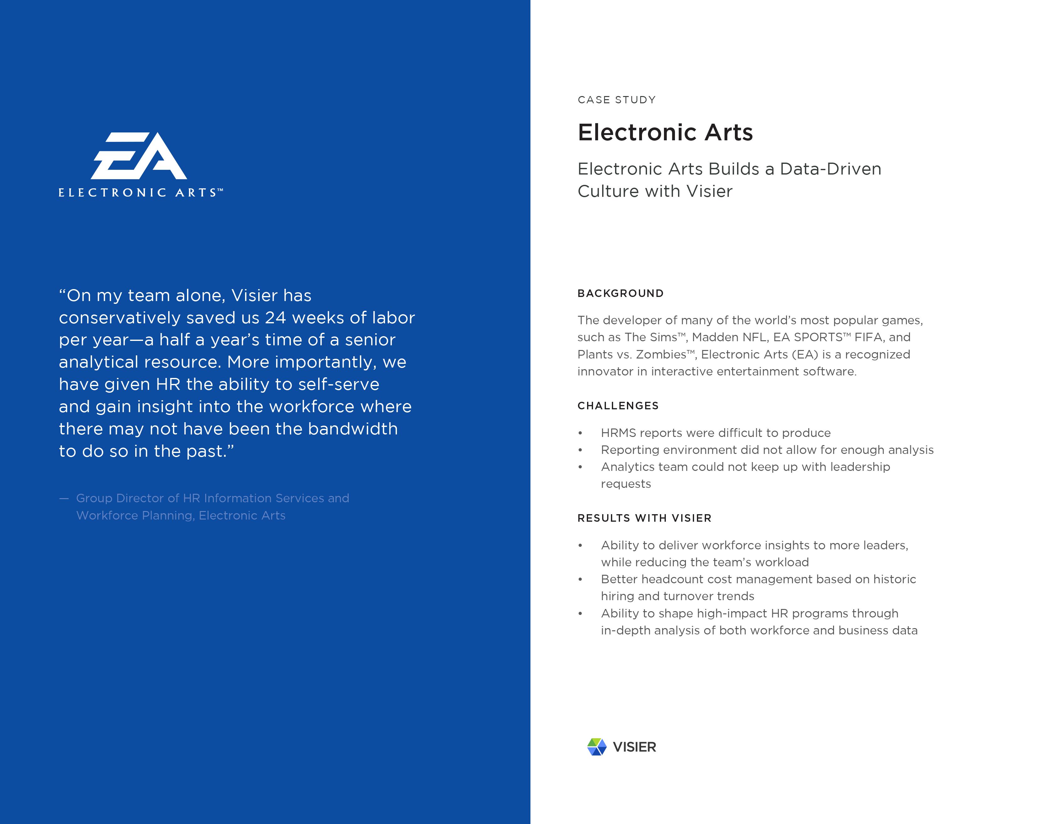 Visier Case Study Electronic Arts (Short)