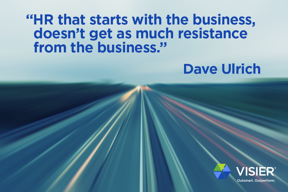 Abstract image showing a HR strategy quote by leading HR and business consultant Dave Ulrich