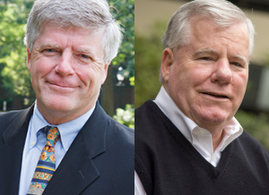 Headshots of Tom Davenport and Dr. John Sullivan