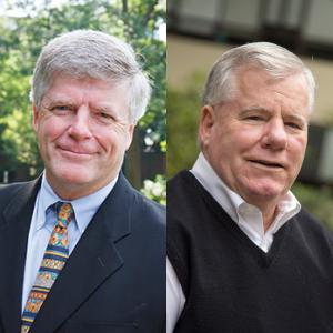 Headshots of Tom Davenport and Dr. John Sullivan