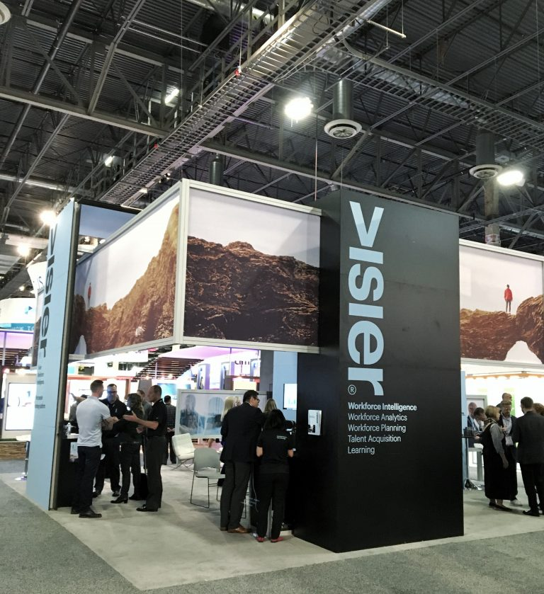 Visier booth at the HR Technology Conference 2017