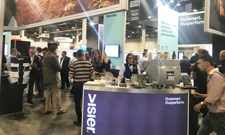 The Visier team at their HR Technology 2018 booth
