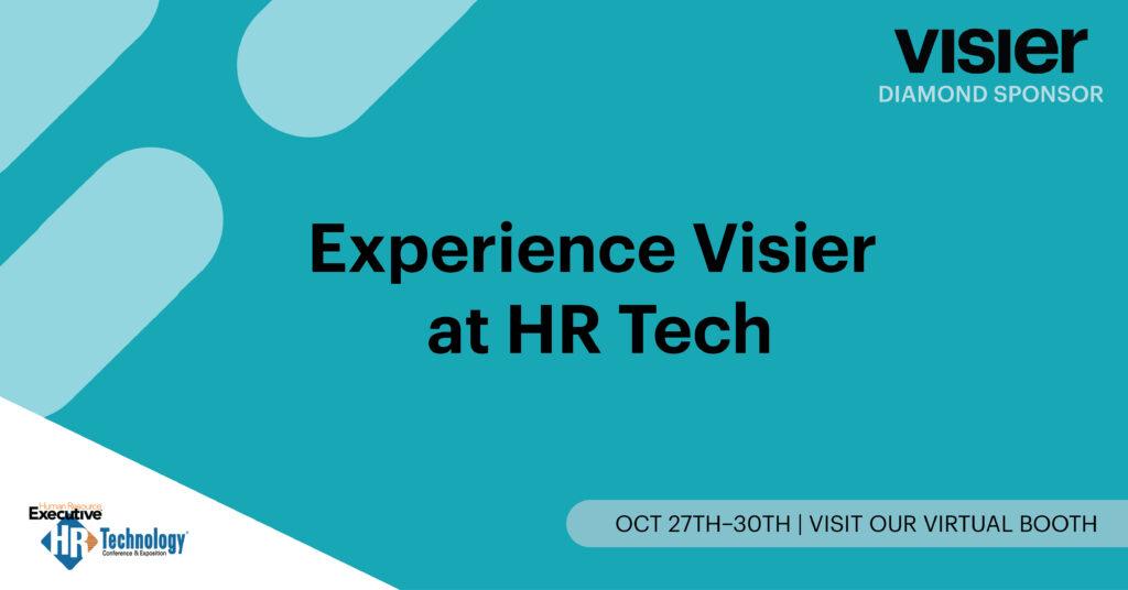 HR Tech Conference Visit Visier banner
