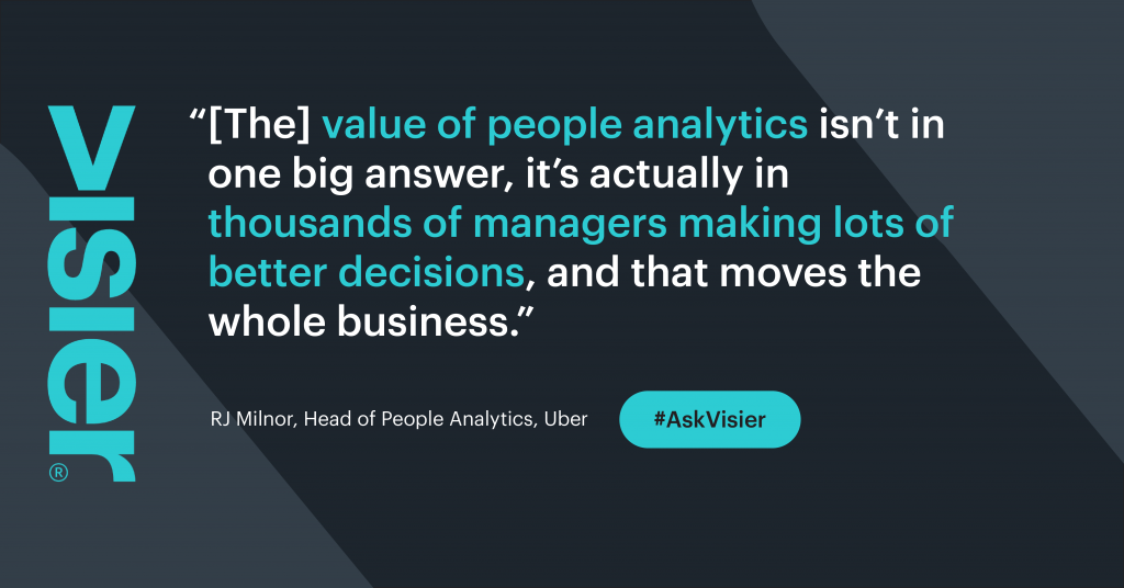 People Analytics leads to better business decisions.