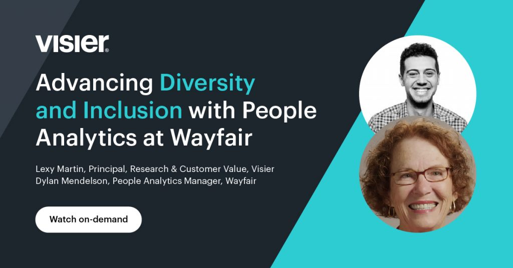 Watch Advancing Diversity and Inclusion with People Analytics at Wayfair webinar on demand