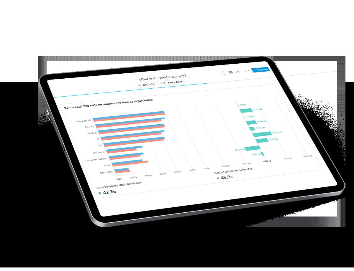 Analytic data on an iPad